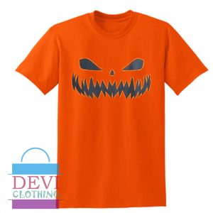 Halloween Pumpkin Layered Loose Orange Aesthetic T-Shirt For Women's Or Men's Adult