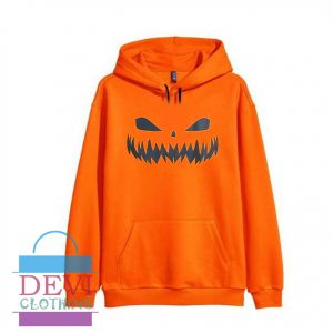 Halloween Pumpkin Layered Loose Orange Aesthetic Hoodie Unisex Adult