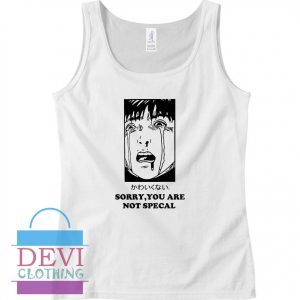 Sorry You Are Not Special Crying Manga Aesthetic Tank Top For Women and Men