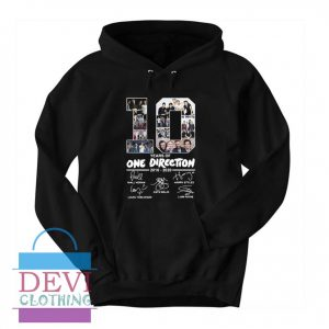 10 Years Of One Direction Hoodie